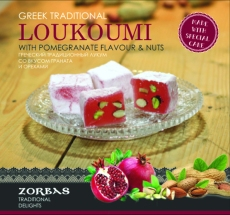 Loukoumi with pomegranate flavour & nuts 200 ml