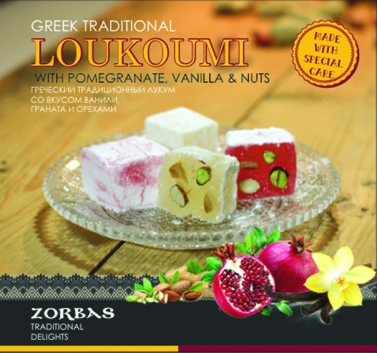 Loukoumi with pomegranate, vanilla & nuts 200 ml