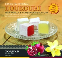 Loukoumi with vanilla & pomegranate flavour 200 ml